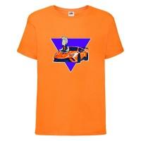 Футболка детская Влад Бумага А4 005 (Vlad A4) оранжевая (VBA4 orn 005) 128 см