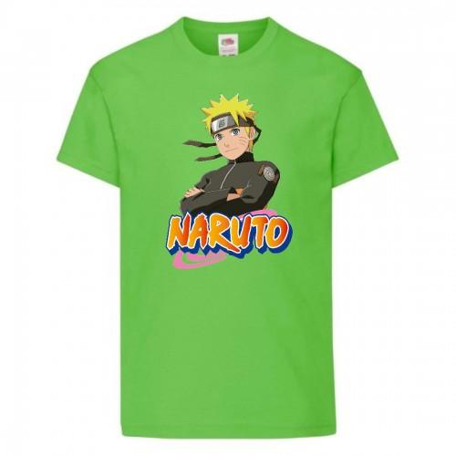 Футболка детская Наруто 035 (Naruto) светлозеленая (NAR lgrn 035) 164 см