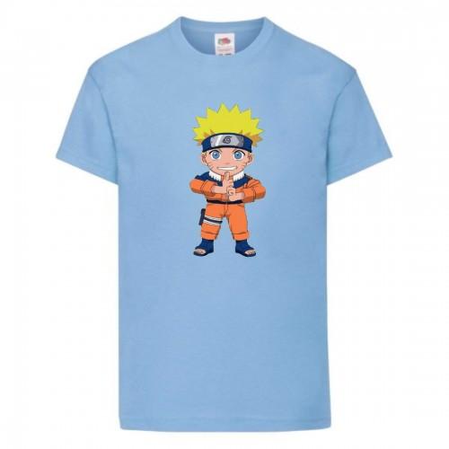 Футболка детская Наруто 060 (Naruto) светлоголубая (NAR llbl 060) 116 см