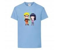 Футболка детская Наруто 061 (Naruto) светлоголубая (NAR llbl 061) 116 см