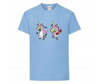Футболка детская Единорог 001 (Unicorn) голубая (UNN lbl 001)104 см
