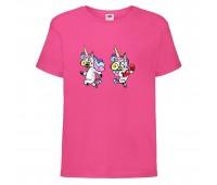 Футболка детская Единорог 001 (Unicorn) розовая (UNN pnc  001)104 см