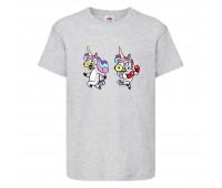 Футболка детская Единорог 001 (Unicorn) серая (UNN gry 001)104 см