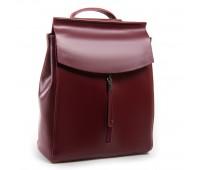 Рюкзак женский ALEX RAI 03-01 3206 кожаный бордовый