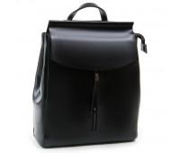 Рюкзак женский ALEX RAI 03-01 3206 кожаный черный