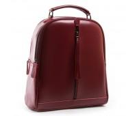 Рюкзак женский кожаный Alex Rai 03-01 8694-3 бордовый