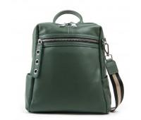 Рюкзак женский кожаный ALEX RAI 03-01 8781-9 зеленый