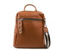 Рюкзак женский кожаный ALEX RAI 03-01 8781-9 коричневый
