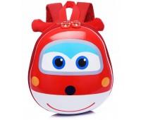 Рюкзак Cappuccino Toys Pre-school 3D дошкольный Super Wings Супер Вингс Супер крылья плотный корпус красный (CT-V-09red)