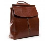 Рюкзак женский ALEX RAI 03-01 3206 кожаный коричневый