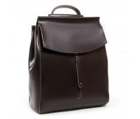 Рюкзак женский ALEX RAI 03-01 3206 кожаный темно-коричневый