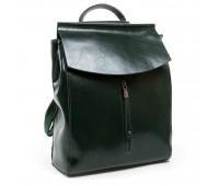 Рюкзак женский ALEX RAI 03-01 3206 кожаный зеленый