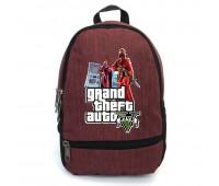Рюкзак GTA подростковый Cappuccino Toys (gta 002-red)  красный