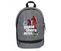 Рюкзак GTA подростковый Cappuccino Toys (gta 002-gray)  серый