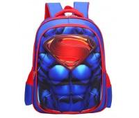 Рюкзак Xiang Huang школьный с объёмным изображением Superman Супермен синий (XH3D-Supman)