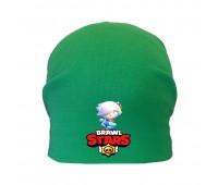 Шапка детская  зеленая (Brawl Stars-0011) 50-52 см