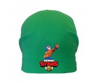 Шапка детская  зеленая (Brawl Stars-0024) 50-52 см