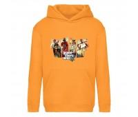 Худи детская  GTA 003 (Grand Theft Auto) оранжевая (GTA orn 003) 116 см