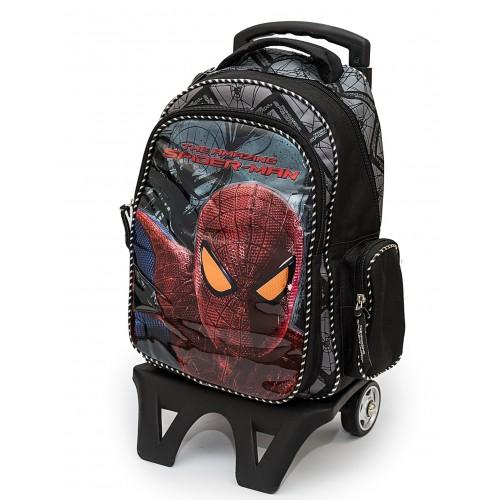 Рюкзак Hakancanta Marvel Spiderman Человек паук школьный с детской подставкой на колесах