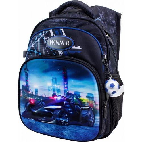 Рюкзак  Winner Stile 8051 школьный черно-синий