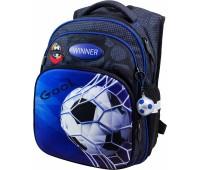 Рюкзак  Winner Stile 8052 школьный черно-синий