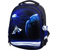 Рюкзак-ранец Winner Stile 6009 школьный ортопедический черно-синий