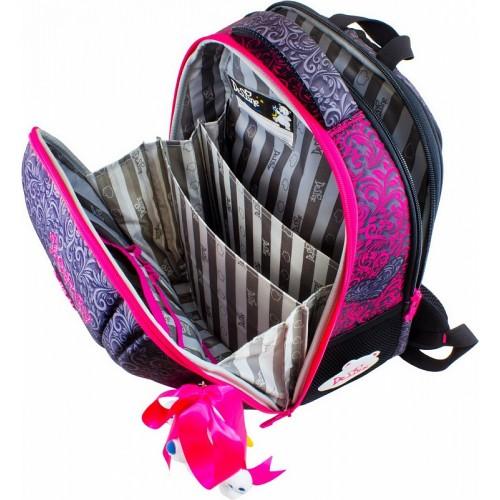 1338bde8f48d Рюкзак-ранец DeLune 7-140 школьный ортопедический с 3D изображением серый с  розовым