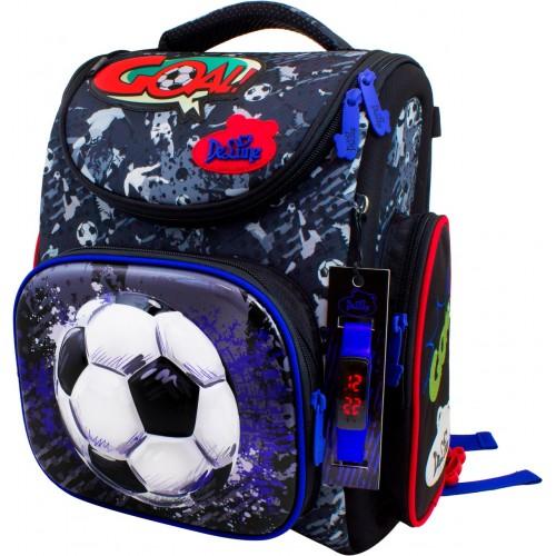 Рюкзак-ранец DeLune 3-151 школьный ортопедический с 3D изображением серый