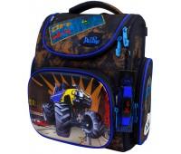 Рюкзак-ранец DeLune 3-152 школьный ортопедический с 3D изображением коричневый