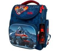 Рюкзак-ранец DeLune 3-154 школьный ортопедический с 3D изображением синий