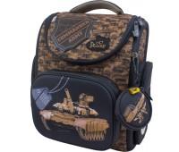 Рюкзак-ранец DeLune 3-133 школьный ортопедический с 3D изображением коричневый