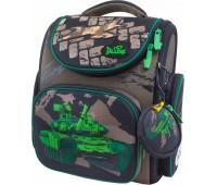 Рюкзак-ранец DeLune 3-135 школьный ортопедический с 3D изображением коричневый