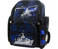 Рюкзак-ранец DeLune 6-120 школьный ортопедический с 3D изображением черный