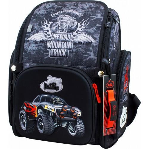 Рюкзак-ранец DeLune 6-121 школьный ортопедический с 3D изображением черный
