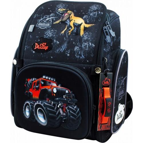 Рюкзак-ранец DeLune 6-122 школьный ортопедический с 3D изображением черный