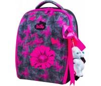 Рюкзак-ранец DeLune 7-141 школьный ортопедический с 3D изображением серый с розовым