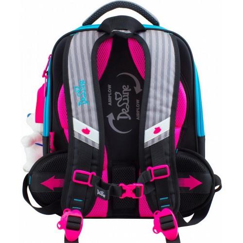 af55d5227a5b Рюкзак-ранец DeLune 7-142 школьный ортопедический с 3D изображением серый с  розовым