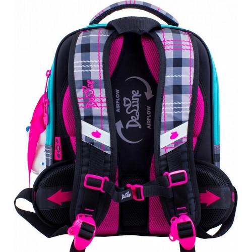 3d55441ca336 Рюкзак-ранец DeLune 7-143 школьный ортопедический с 3D изображением серый с  розовым