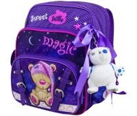 Рюкзак-ранец  DeLune 55-07 школьный ортопедический фиолетовый