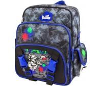 Рюкзак-ранец  DeLune 55-06 школьный ортопедический серый с синим