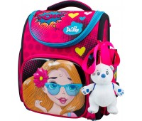 Рюкзак-ранец для девочки DeLune 3-174 школьный ортопедический с 3D изображением розовый