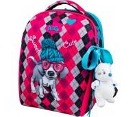 Рюкзак-ранец DeLune 7mini-018 для девочек школьный ортопедический + пенал и сумка для сменной обуви