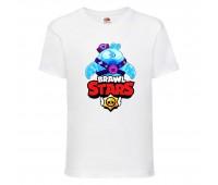 Футболка детская Brawl Stars Squeak (Бравл Старс Скуик) белая 104 см