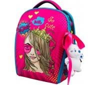 Рюкзак-ранец DeLune 7mini-022 для девочек школьный ортопедический + пенал и сумка для сменной обуви