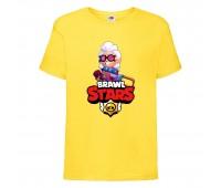 Футболка детская Brawl Stars Belle (Бравл Старс Бэлль) желтая 104 см