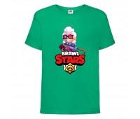 Футболка детская Brawl Stars Belle (Бравл Старс Бэлль) зеленая 104 см