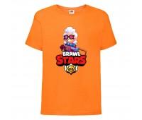 Футболка детская Brawl Stars Belle (Бравл Старс Бэлль) оранжевая 104 см