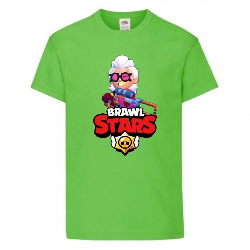 Футболка детская Brawl Stars Belle (Бравл Старс Бэлль) светлозеленая 104 см
