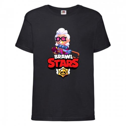 Футболка детская Brawl Stars Belle (Бравл Старс Бэлль) черная 104 см