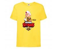 Футболка детская Brawl Stars Belle Gold (Бравл Старс Бэлль Золотая) желтая 104 см